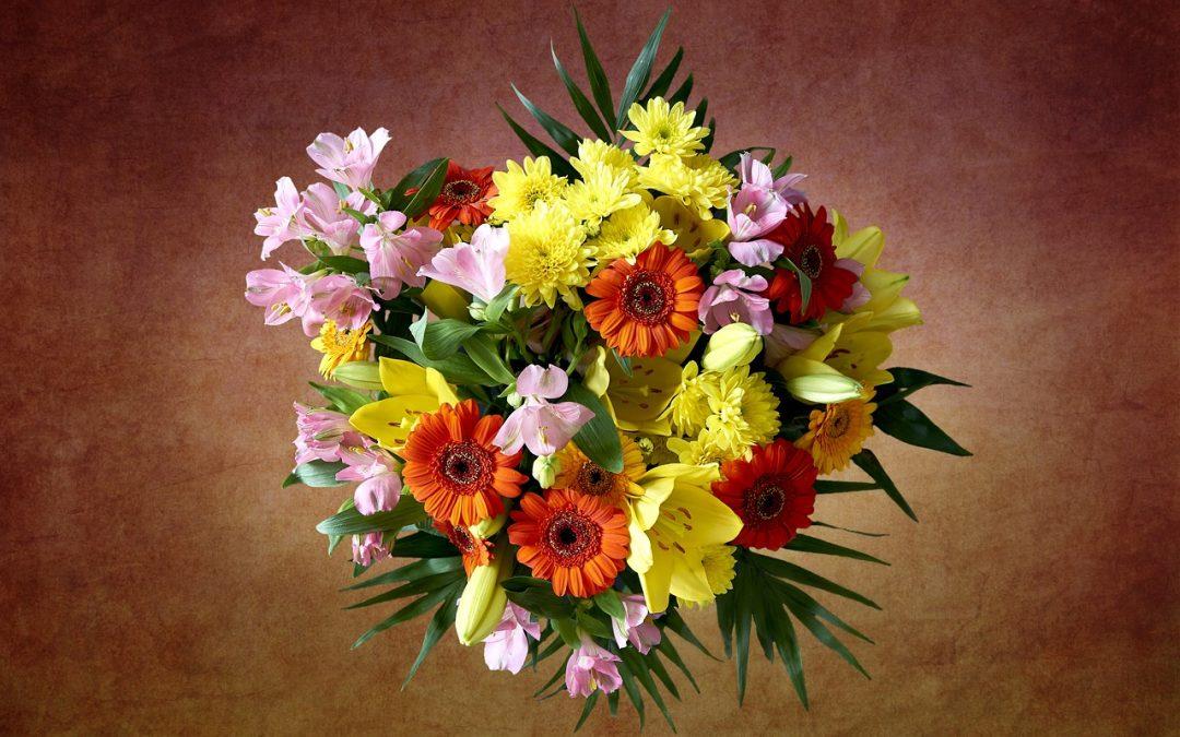 Blumen für den Kollegen